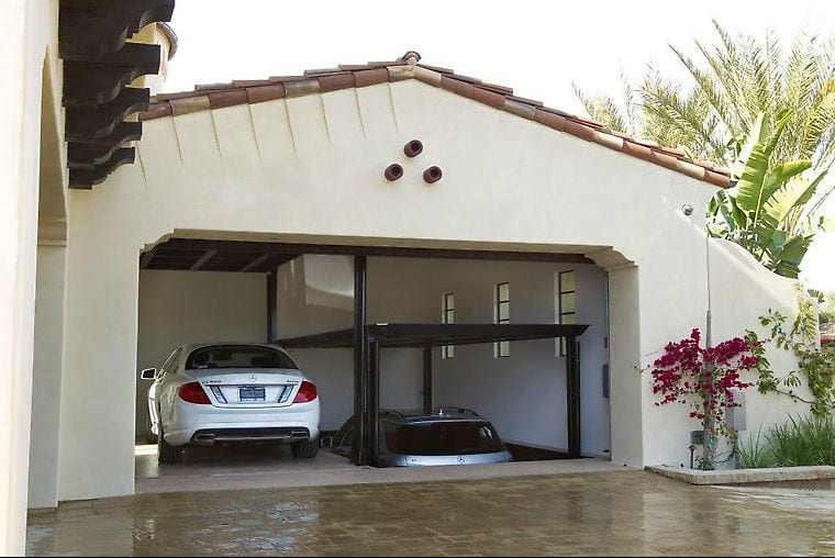 Phantompark subterranean car lifts by american custom lifts for Garage elevator lift