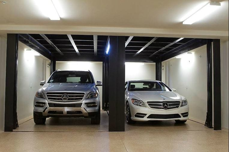 Phantompark subterranean car lifts by american custom lifts for Lift furniture to second floor