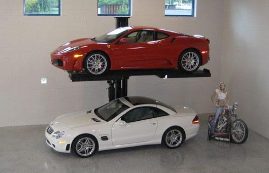 One Post Car Lift : Mclaren life storage lift for having s below